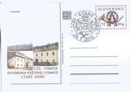 CDV 244 Slovakia Post Horn Stara Hora Post Office 230th Anniversary 2015 - Poste