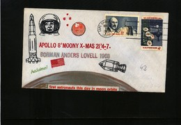 USA 1968 Space / Raumfahrt  Apollo 8 Interesting Hand Painted Cover - Briefe U. Dokumente