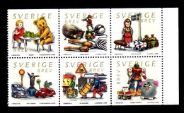 SUEDE 2000 - YT 2178/2183 - Facit 2211/2216 - NEUFS ** LUXE/ MNH -  Série Complète 6 Valeurs - Jouets - Suède