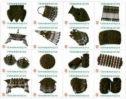 Turkmenistan.2014 Jewelry. M/S Of 16v X S .  Michel # 330-345 Zd. Bg. - Turkménistan