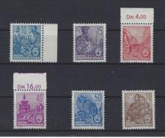 DEUTSCHLAND/ DDR - Freimarken 1955 - Michel-Nr. 453 - 458 ** Ohne Falz - MNH  - 1068 - [6] République Démocratique