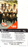 SAINT MARTIN - Tanny & The Boys, TelCell Prepaid Card $20(large CN), Used - Antillen (Nederlands)