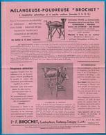 Document Publicitaire 77 FONTENAY-TRESIGNY Ets F. BROCHET Constructeurs AGRICULTURE Mélangeuse Poudreuse - Agriculture