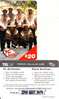 SAINT MARTIN - Tanny & The Boys, TelCell Prepaid Card $20(small CN), Used - Antillen (Nederlands)