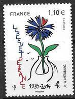 France 2014 N° 4907 Neuf Bleuet De France à La Faciale - Neufs