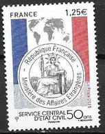 France 2015 N° 4959 Neuf Service D'état Civil à La Faciale - Neufs