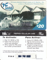 SAINT MARTIN - Belvedere Plantation House, TelCell Prepaid Card $20(on Pale Blue Triangle), Used - Antilles (Netherlands)