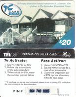SAINT MARTIN - Belvedere Plantation House, TelCell Prepaid Card $20(on Pale Blue Triangle), Used - Antillen (Nederlands)