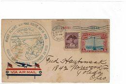 LBR26 - USA FIRST FLIGHT AIR MAIL ROUTE AM 18 P.O.D. GRAND ISLAND-NEBRASKA SEPTEMBER 20 1933 - Avions