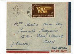 LBR26 - VIET NAM LETTRE AVION HA-NOI / RABAT 1/3/1954 ARCHIVE ANNE MARIE MAÎTRE - Viêt-Nam