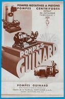 """Document Publicitaire Extrait Catalogue """"Les POMPES GUINARD"""" 92 St SAINT-CLOUD - Non Classés"""