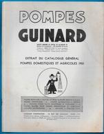 """Document Publicitaire Extrait Catalogue """"Les POMPES GUINARD, Domestiques Et Agricoles"""" 92 St SAINT-CLOUD ** Agriculture - Non Classés"""