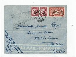 LBR26 - SUD VIET NAM LETTRE AVION SAIGON / POITIERS 4/3/1951 CACHET COMM. VOL DE RETOUR DU COSTELLATION INDOCHINE-FRANCE - Viêt-Nam