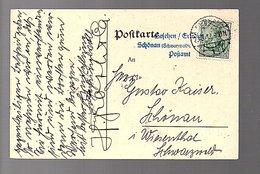 Zensur GESEHEN ERLEDIGT SCHÖNAU (SCHWATRRTZENWALD) POSTAMT  1912 Hartwig Groth Dessau(Re4-52) - Duitsland