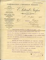 Aviation - CONSTRUCTION D'APPAREILS AÉRIENS  E. LETORD & NIEPCE à MEUDON - Lettre De 1912 - ....-1914: Precursors