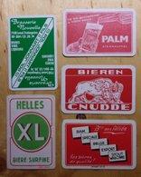 5 Cartes/kaarten - Bière - Bier - Brasserie - Brouwerij - Helles XL - Alliés - Palm Steenhuffel - Cnudde - Jonnart Leval - Cartes à Jouer Classiques