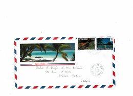 LBR26 - POLYNESIE FR.SE DEVANT DE LETTRE AVION 2/4/1987 BORA-BORA 1er TIRAGE - Polynésie Française