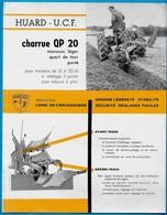 Document Publicitaire HUARD UCF (44 Châteaubriant) CHARRUE (Production Usine 11 CARCASSONNE) *** AGRICULTURE - Agriculture