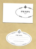 Enveloppe Pocket PRADA MILANO + Carte * R/V *** 1 EX - Cartes Parfumées