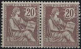 FRANCE Mouchon 1900 N°126**  En Paire Fraicheur Postale TTB Signé Calves - 1900-02 Mouchon