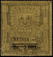 Bolivia 1977 Exfiva Stamp Exhibition Unmounted Mint. - Bolivia