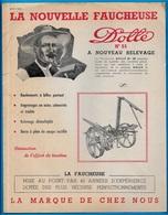 """En L'état Document Publicitaire """"La Nouvelle FAUCHEUSE DOLLE"""" (nouveau Relevage) 70 VESOUL *** AGRICULTURE - Agriculture"""