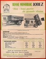 """Document Technique Publicitaire """"BENNE MONOBLOC JOBEZ"""" 01 AMBUTRIX Ain *** AGRICULTURE - Agriculture"""