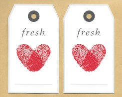 Carte Promo Perfume Card FRESH Grand Modèle * Saint Valentin Valentine 2016 * R/V - Perfume Cards