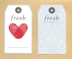 Carte Promo Perfume Card FRESH Grand Modèle * R/V - Cartes Parfumées