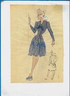 Illustration (imprimée)  MODE Des ANNEES 1940 - Vieux Papiers