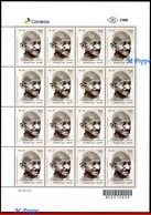 Ref. BR-V2018-072F BRAZIL 2018 - 150 YEARS OF MAHATMA, GANDHI BIRTH, SHEET MNH, FAMOUS PEOPLE 16V - Mahatma Gandhi
