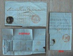 CHARLEROY - CHARLEROI - P25 - N° 6 - Lettre Banque Brichart De Chatelet Vers Namur - 24 Septembre 1856 - 1851-1857 Médaillons (6/8)