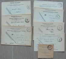 CHARLEROY - CHARLEROI - 8 Cachets Différents De Charleroi 1 - Litteras D - F - G - K - L - Entre 1925 Et 1945 - Marcophilie