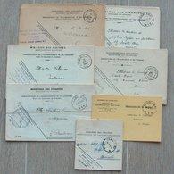 CHARLEROY - CHARLEROI - 7 Cachets Différents De Charleroi 1 - Litteras M Et N - Entre 1924 Et 1955 - Marcophilie