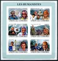 NN - NB - [35748]NN-Union Des Comores - ND/imperf - Les Humanistes - Miriam Makeba - Mahatma Gandhi - Mère Teresa - Yass - Comores (1975-...)