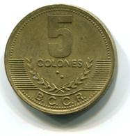 1997 Costa Rica 5 Colones Coin - Costa Rica