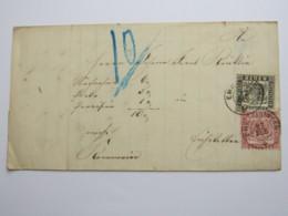 1868 , EMMENDINGEN  , Sauberer Stempel Auf Brief Mit 1Kr. + 3 Kr. - Baden