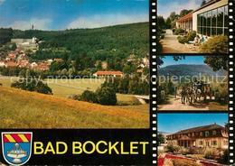 73048269 Bad Bocklet Panorama Wandelhalle Postkutsche Bahnhof Bad Bocklet - Unclassified