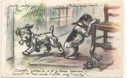 """CPA.G. BOURET - COMPTE JUSQU'A 10 ET JE DIRAI """" COUCOU """" !!  -  CARTE BILINGUE .... Ecrite Au Verso . 2 Scanes - Bouret, Germaine"""