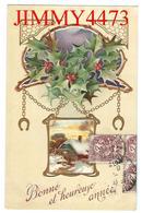CPA En Relief Gauffrée -  Bonne Et Heureuse Année 1908 - Trade Kosel Mark - Nouvel An