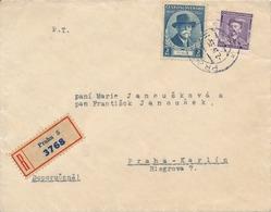 N0049 - Czechoslovakia (1935) Praha 5 (R-letter); Local Tariff: 2,60 Kc (stamp 60h - Shifted Perforation) - Czechoslovakia