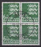 Denmark SG348d 1988 Definitive 6k.60 Fine Used Block Of 4 [2/2272/6D] - Denmark