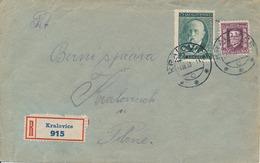 N0052 - Czechoslovakia (1930) Kralovice (R-letter); Local Tariff: 2,60 Kc - Czechoslovakia
