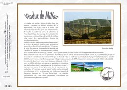 """"""" VIADUC DE MILLAU """" Sur Feuillet CEF N°té En SOIE De 2004. N° 1745s. N° YT 3730 - Bridges"""