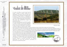 """"""" VIADUC DE MILLAU """" Sur Feuillet CEF N°té En SOIE De 2004. N° 1745s. N° YT 3730 - Ponts"""
