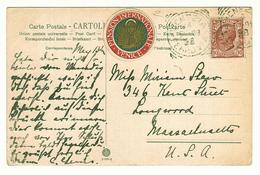 Italian Guest House Boarding Accomodation Cinderalla Stamp PENSION INTERNATIONALE VENICE, (1928?) On Postcard To USA - Cinderellas