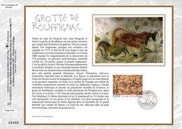 """"""" GROTTE DE ROUFFIGNAC """" Sur Feuillet CEF N°té En SOIE De 2006. N° 1827s. N° YT 3905 - Préhistoire"""