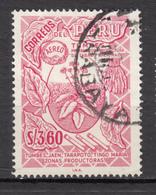 ##22, Pérou, Peru, 3.60, Tabac, Tobacco, Airmail, Surimpression, Overprint - Peru