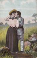 Romantic Couple Embracing 1908 - Couples
