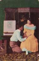 Romantic Couple Man Proposing 1908 - Couples